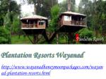plantation resorts wayanad