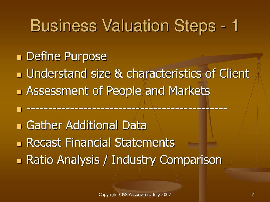 financial statements industry comparison
