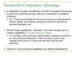 sustainable competitive advantage6