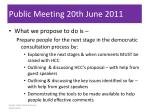 public meeting 20th june 2011