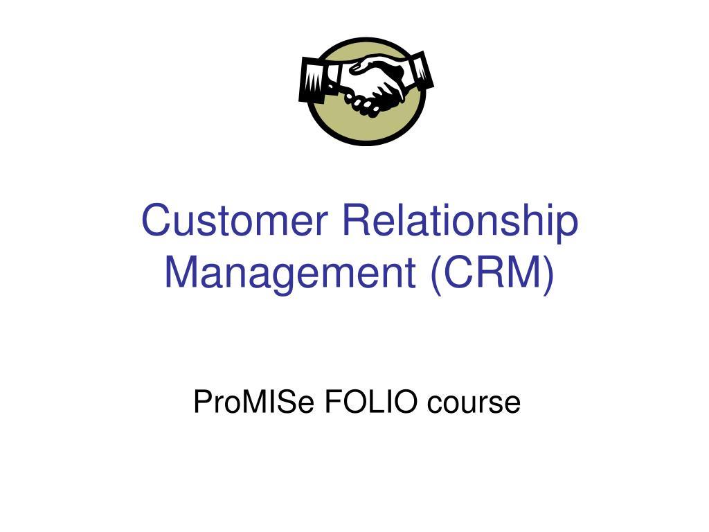 customer relationship management crm l.