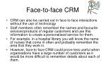 face to face crm