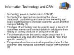 information technology and crm