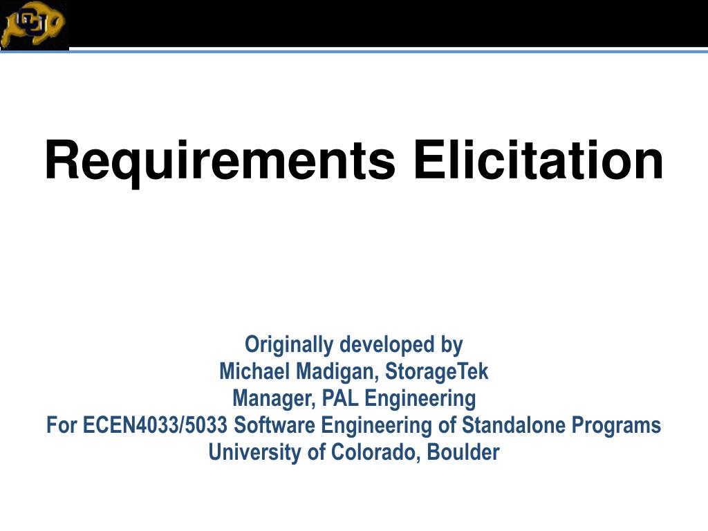 requirements elicitation l.