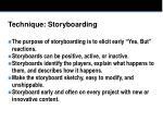 technique storyboarding