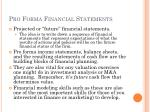 pro forma financial statements2