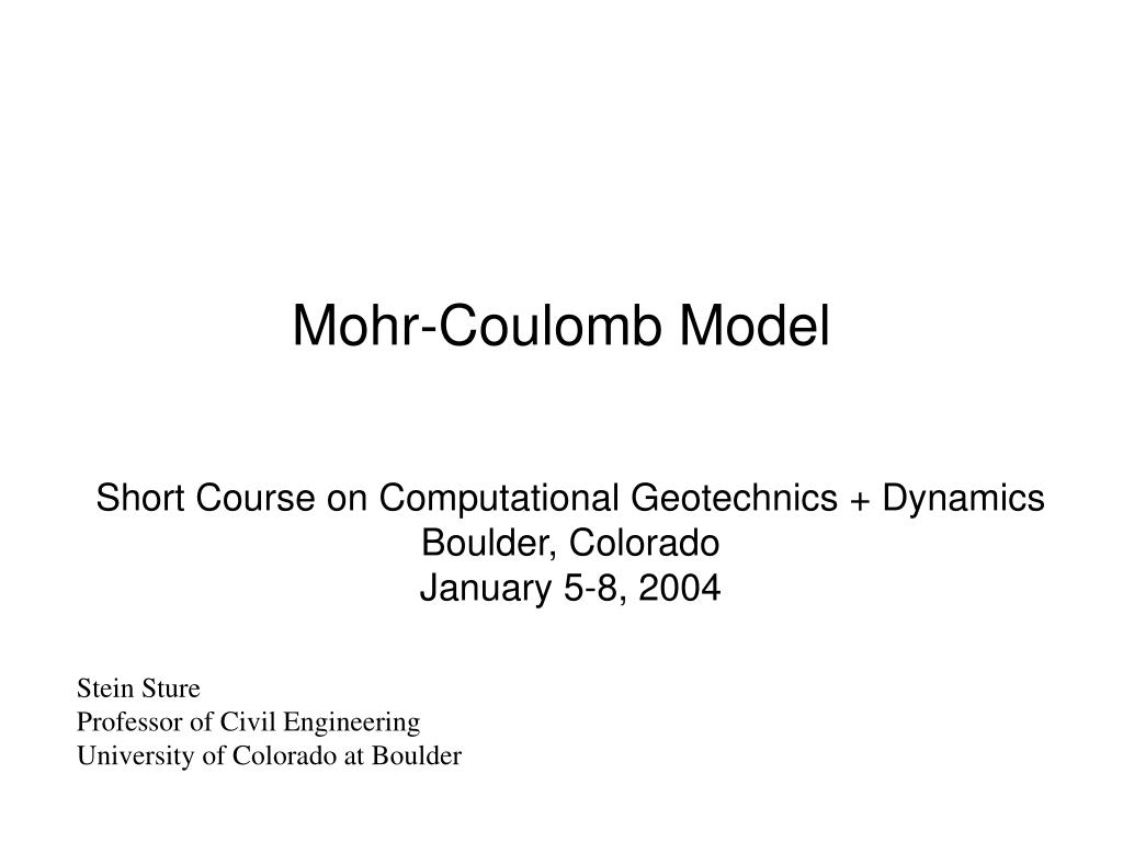 mohr coulomb model l.