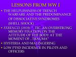 lessons from ww i