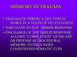 memory in trauma