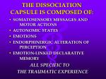 the dissociation capsule is composed of