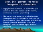 cont exp geomorf de rocas homogeneas o horizontales