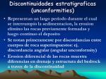 discontinuidades estratigraficas unconformities
