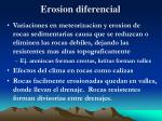 erosion diferencial
