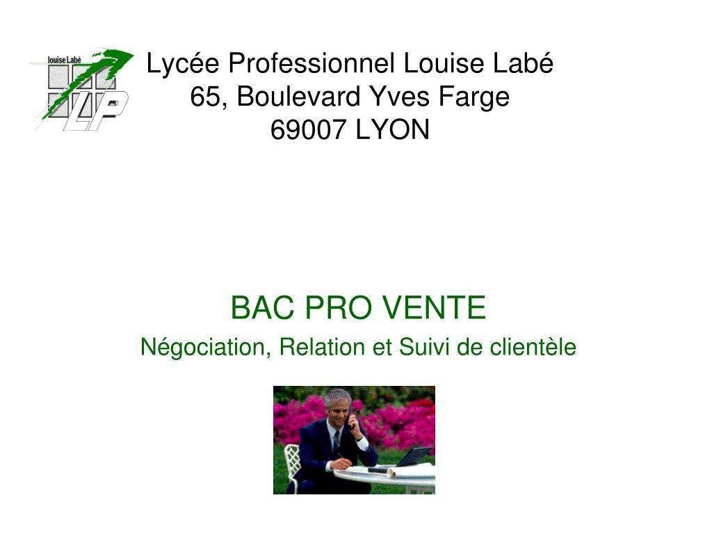 lyc e professionnel louise lab 65 boulevard yves farge 69007 lyon l.