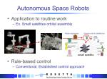 autonomous space robots