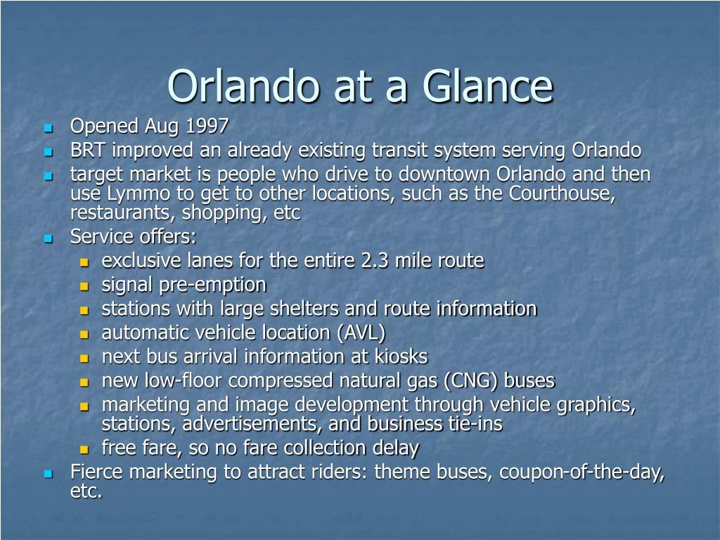Orlando at a Glance
