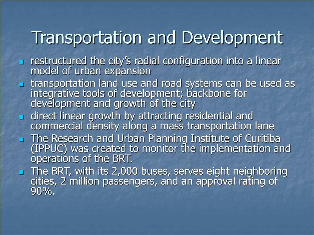 Transportation and Development