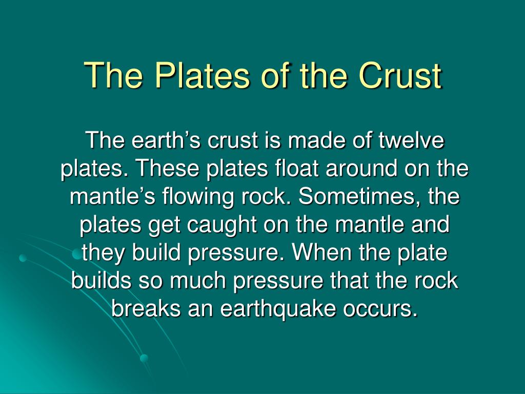 The Plates of the Crust