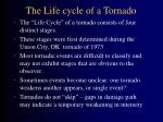 the life cycle of a tornado