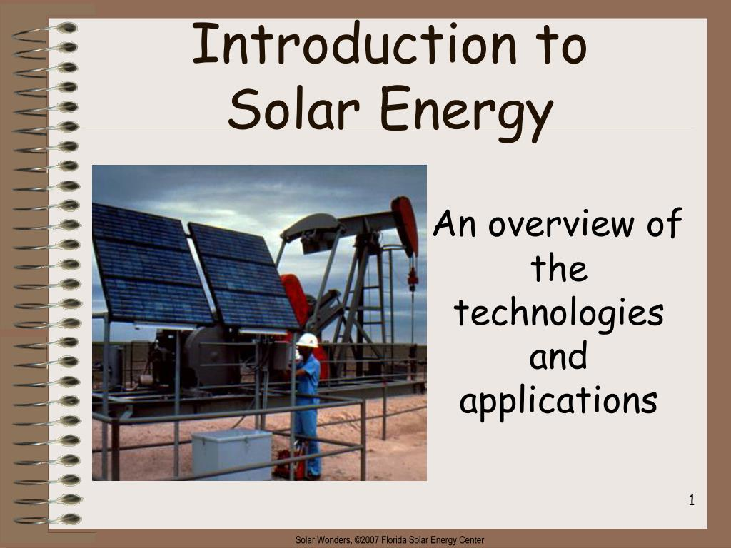 introduction to solar energy l.