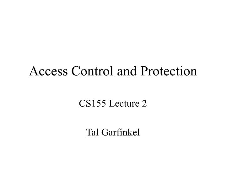 access control and protection n.