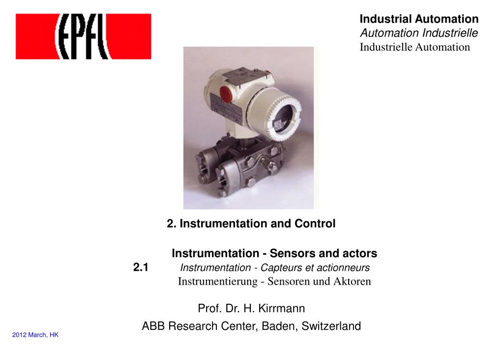 2 instrumentation and control l.