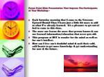 power point slide presentation that impress the participants at your workshop
