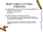 brief family systems therapies