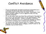 conflict avoidance