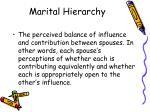 marital hierarchy