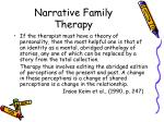 narrative family therapy