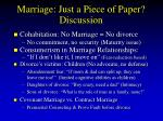 marriage just a piece of paper discussion