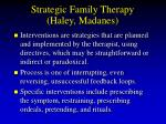 strategic family therapy haley madanes75