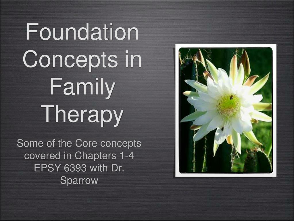 foundation concepts in family therapy l.