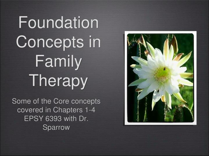 Foundation concepts in family therapy