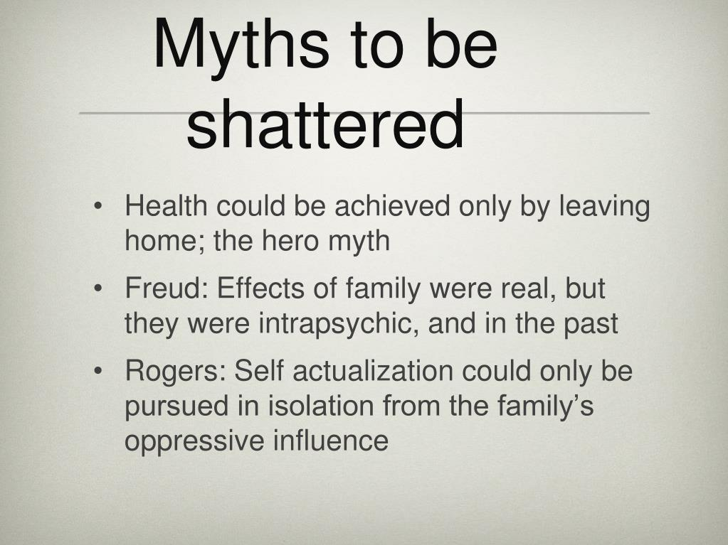 Myths to be shattered