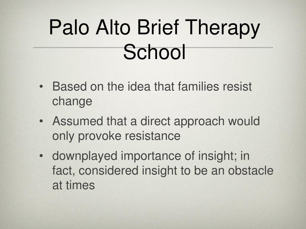 Palo Alto Brief Therapy School