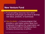 new venture fund
