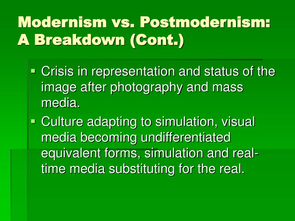 post modernism vs modernism