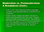 modernism vs postmodernism a breakdown cont19