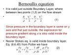 bernoullis equation