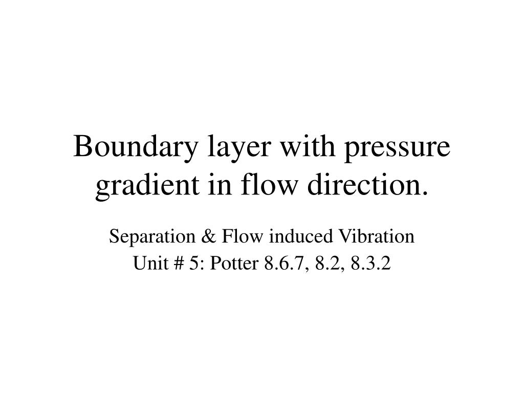 boundary layer with pressure gradient in flow direction l.