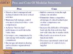 pros and cons of modular structures