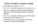 how to build a simple model