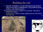 building the soil