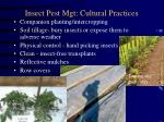 insect pest mgt cultural practices