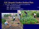 lsu organic garden student plots73