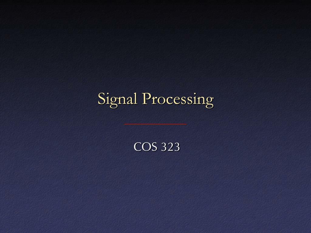 signal processing l.