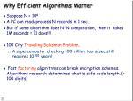 why efficient algorithms matter