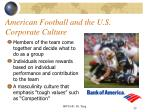 american football and the u s corporate culture
